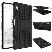 For Sony Xperia Z5 Case 5 2inch High Quality Hybrid Kickstand Rugged Rubber Armor Hard PC
