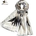 Простой дизайн черный и белый геометрический шарфы женская all-матч хлопок шарфы модный дизайн дамы шали и платки