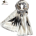 Simple Design Black and White Geometric Scarves Women's All-match Cotton Scarfs Fashion Design Ladies Shawls and Foulard
