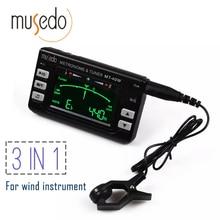 Metro-sintonizador musedo mt-40w y generador de tonos electronic lcd digital 3 en 1 lcd clarinete saxofón sintonizador/metrónomo/generador de tonos