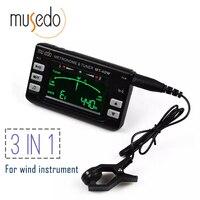Musedo mt-40w метро-тюнер & тон-генератор электронные цифровые ЖК-дисплей 3 в 1 ЖК-дисплей Кларнет Саксофоны тюнер/Метроном /тон-генератор