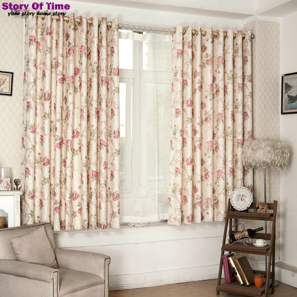 Buy new arrive dot design floral print for Interior decoration curtain pictures