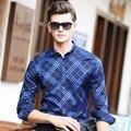 2017 primavera nuevos hombres de la moda de manga larga a cuadros camisas de los hombres delgados camisa de negocios camisa de vestir de alta calidad de la marca de clothing mcl031