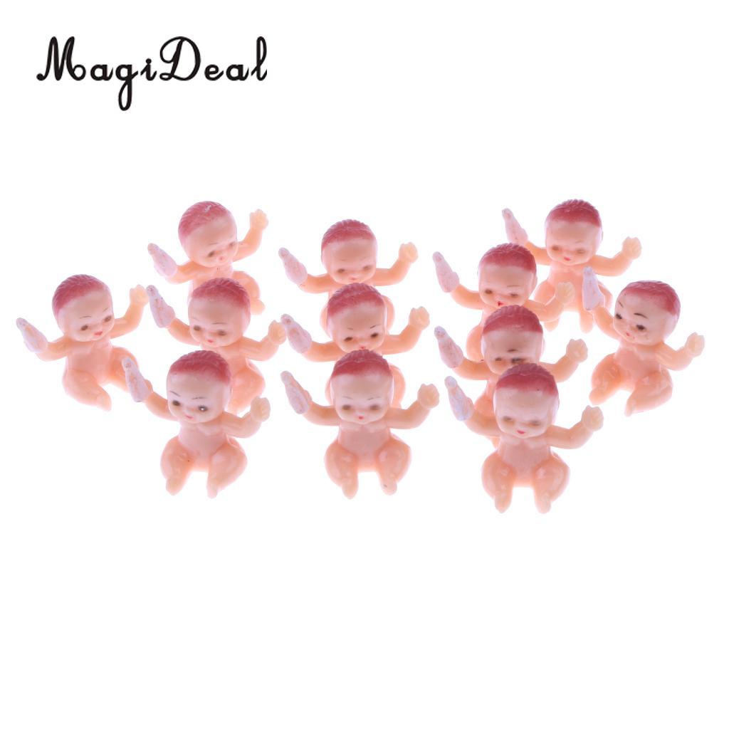 50 шт. Мини ребенок сидит рисунок куклы Baby Shower крещение подарок партии пользу партии Украшение стола 1.25