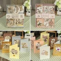 12 Cards 12 Envelopes Make Your Own Card For Gift Vintage Elegant Card Making Kit For
