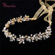 Handmade Bridal Crystal Rhinestone Hair Piece Women White Simulated pearl DIY Pricess wedding tiaras Crown Accessories