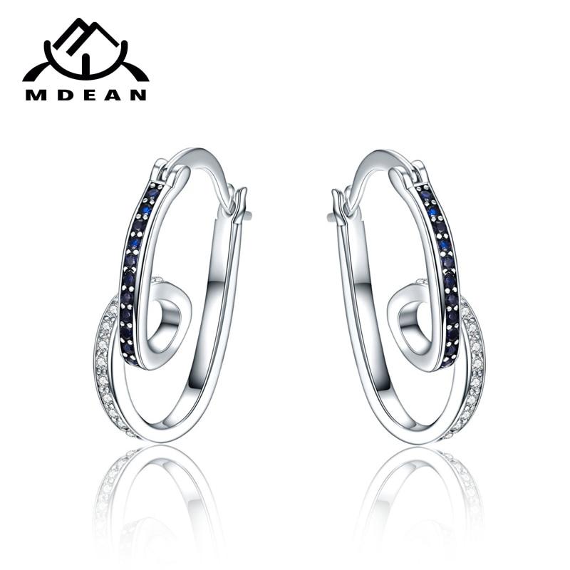 MDEAN balta aukso spalva Brincos AAA cirkonio lanko auskarai moterims vestuvinių bukletų papuošalų auskarai MSE075