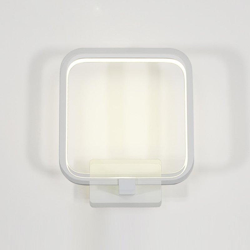 Modern LED Bedroom Wall Lamp Fashion Living Room Aluminum White Circle WALL Sconces Balcony Hallway Wall Lighting Fixtures wall light 12w led wall lamp bedroom bedside living room hallway stairwell balcony aisle balcony lighting ac85 265v hz64