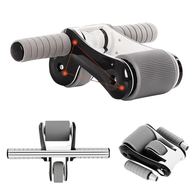 Pliable détachable ABS Double roues Ab rouleaux maison muet femmes mince Fitness Gym Coaster ventre Muscle exercice musculation entraînement