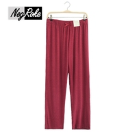 Sexy spring and autumn modal polka dot sexy Wine red women sleep bottoms casual homewear pajama trousers for women plus size