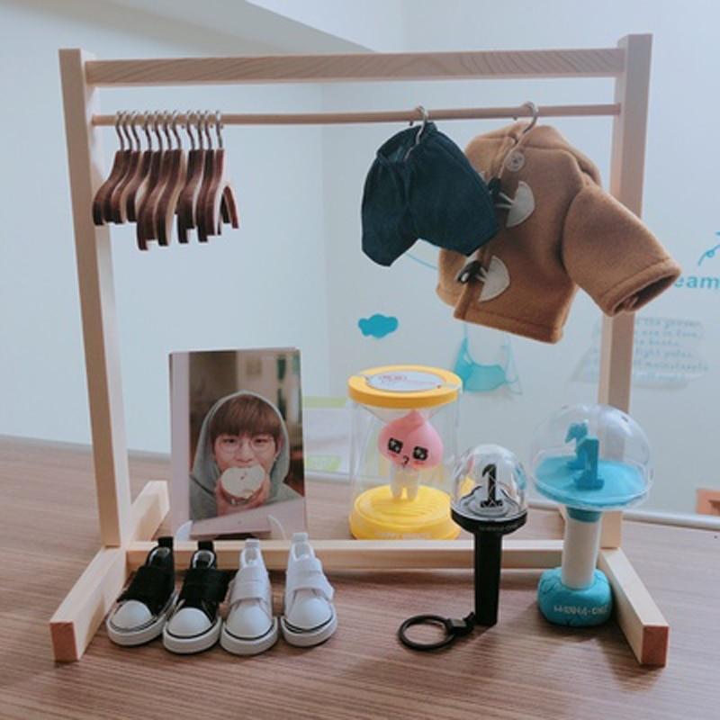 1/6 Bjd Got7 Exo Doll Use Wooden Wardrobe Wood Coat Rack(China)