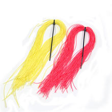 1Pack Fly Tying Material Rubber Strings Popper Spider Legs Fishing Flies Red Yellow Color for Option(China)