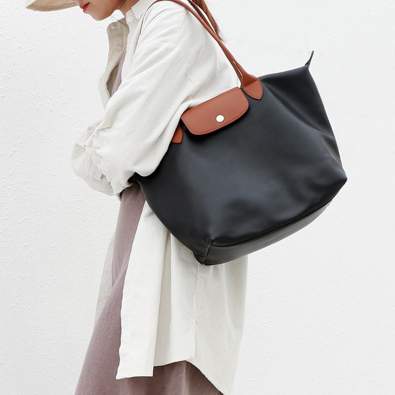 2019 New Fashion Women Bags Famous Brands Designer Handbags Beach Bags Casual Leather Nylon Waterproof Tote Bags Bolsas Feminina