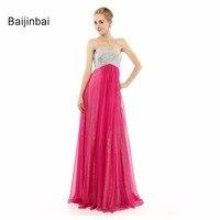 Long Graceful 2015 Evening Dresses Beaded Sequined Vestido Longo De Renda Formal Backless Sleeveless Women Evening