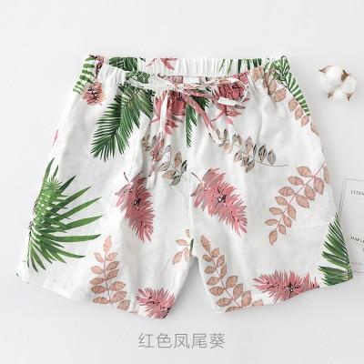 UNIKIWI. Милые летние хлопковые Пижамные шорты для сна, женские свободные пижамные штаны с эластичной резинкой на талии размера плюс M-XL отдыха. 21 цвет - Цвет: 007