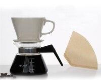 فنجان القهوة 102 الصين كوب فلتر القهوة صانع حصة وعاء + 40 أجزاء من ورق فلتر المنزلية 2-4 أشخاص