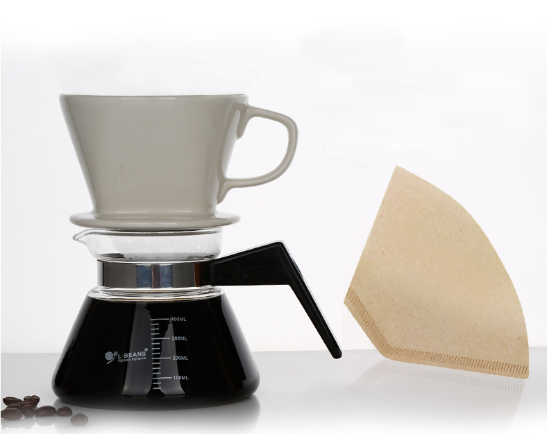 coffee dripper 102 china  filter cup coffee maker Share pot+40 pieces of filter paper household 2-4 people drip smart coffee cup filter coffee cup manual cup clever dripper pot coffee dripper with cup cover gift for coffee lover