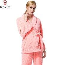 Women's Winter Flannel Pajamas Set With V Neck 2017 New Arrival Camisolas de dormir Ladies Pajamas Sets Mujer L-XXL SY296