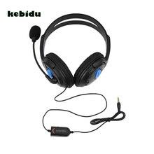 Kebidu新 3.5 ミリメートル有線ヘッドホンゲームゲーミングヘッドフォンヘッドセット用マイクPS4 ソニーのプレイステーション 4/pcコンピュータNI5L