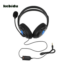 kebidu New 3.5mm Wired Headphone Game Gaming Headphones Headset with Mic for PS4 Sony PlayStation 4 /PC Computer NI5L