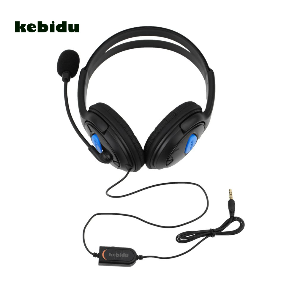 69201a3ac6d kebidu 3.5mm Headset with Mic for PS4 Sony PlayStation 4/PC Computer NI5L