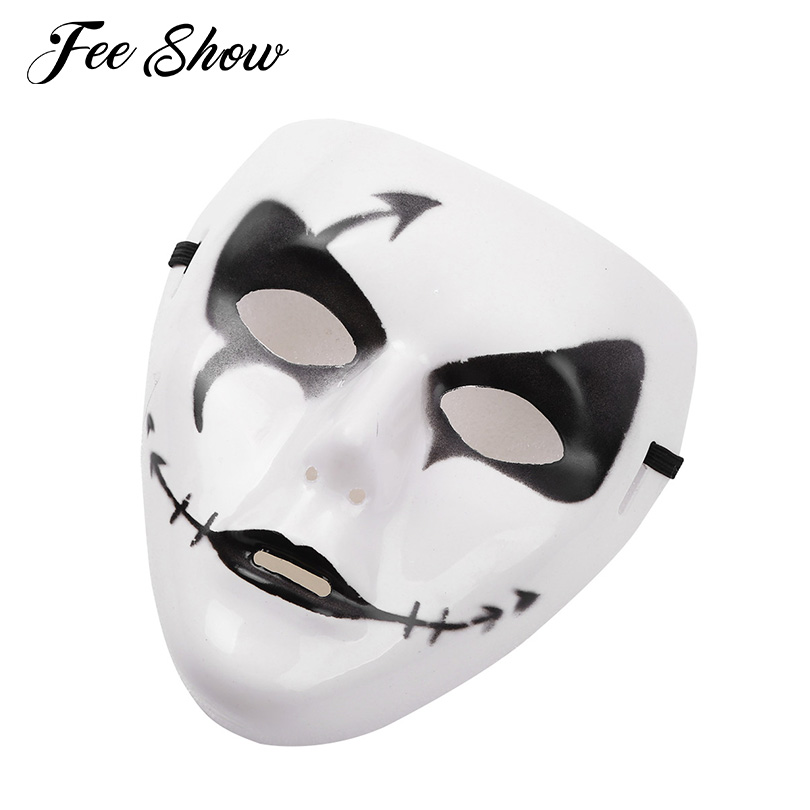 High-quality Hand-Painted Full Face PVC Cool Spooky Party Ghost Cosplay Halloween Mask for Dancing Performance