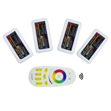 1X RGB remote + 4X RGB controller 2.4G 4-zone Mi.light wireless RF remote controller for bulb& led strip
