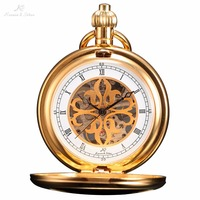 KS Classic Steampunk Watch Elegant Hand Wind Vintage Gold Retro Pendant Classic Steel Mechanical Pocket Watch