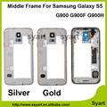 Best price Gold silver Color OEM Middle Plate Bezel Chassis Housing Case For Samsung Galaxy S5 SV G900F G900H G900P