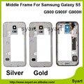 Mejor precio color oro plata oem placa media del bisel del chasis caso de vivienda para samsung galaxy s5 sv g900f g900h g900p