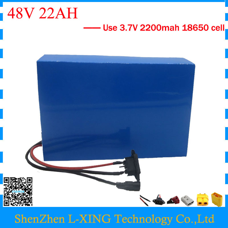 Free customs duty 1000W 48V battery pack 48V 22AH lithium battery 48 V ebike battery 22AH with 30A BMS 2A Charger us eu free customs duty lithium 48v 1000w e bike battery 48v 17ah for original panasonic 18650 cell with 5a charger 30a bms