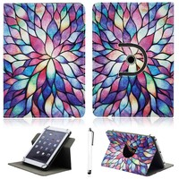 360 Degree Rotate 10 Universal PU Leather Stand Protector Case Skin For 10 Inch Tablet PC