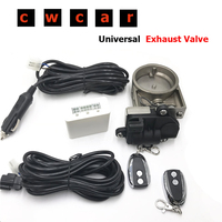 2.5 Exhaust Valve Flap Control +Electric Control Box For Exhaust Catback Downpipe
