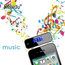 kebidu 5pcs/lot Mini Portable Transmitter MP3 Player Car Kit Car Audio Music Player with LCD Screen for Mobile Phone for Car(China)