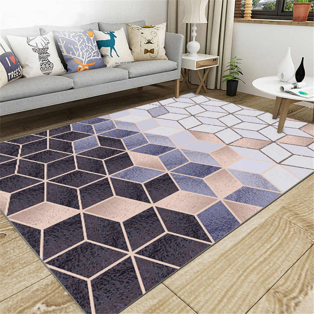 European Style Home Decoration Carpet Comfortable Non-slip Rectangle Living Room Anti-slip Soft Geometric Carpet Area RugsEuropean Style Home Decoration Carpet Comfortable Non-slip Rectangle Living Room Anti-slip Soft Geometric Carpet Area Rugs