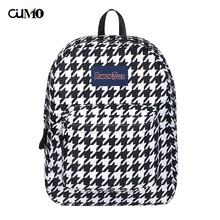 Ou Mo brand Houndstooth laptop backpack Women computer bag anti theft school Bag teenagers travel man Backpack