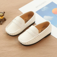Slip on Luxury Brand Plaid Toddlers Kids Trainers Little Boys Girls Casual Leather Shoes Loafers with Letters Buckle Patch
