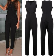 Women Summer Clothes Sleeveless Jumpsuit Lace Playsuit Ladies Thin Fabric Slim L