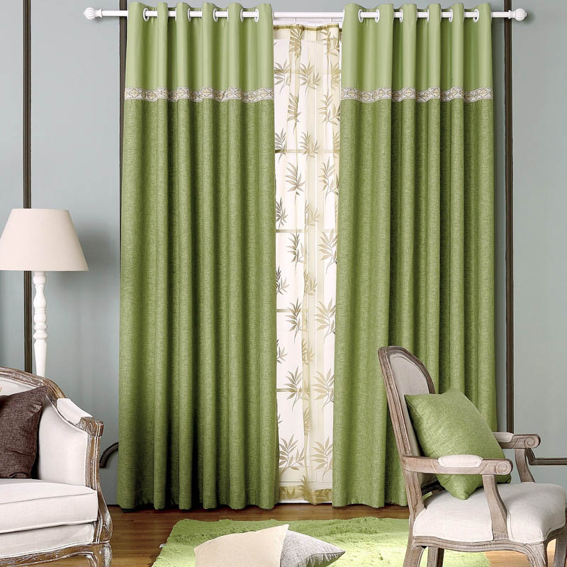 Full Blackout Curtain Fabrics Bedroom Linen Ready Made Window Curtains Luxury Insulated Thermal