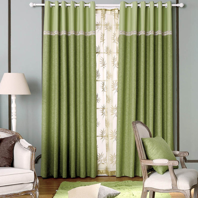Online Shop Full Blackout Curtain Fabrics Bedroom Linen Ready Made ...