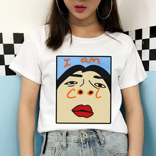 FIXSYS Cartoon Pattern Print T Shirt for Womens Summer Fashion T-shirt Casual Short Sleeves Shirts Funny Shirt Ladies Tops Tee fantasy colour pattern long sleeves t shirt