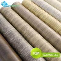PVC Waterproof Self Adhesive Wallpaper Paste Furniture Cabinets Vinyl Decorative Film Wood Grain Stickers Home Decor