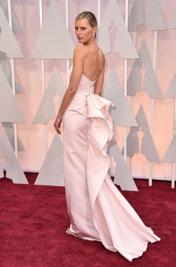 projetado saia trailing flounded vestido vestidos de celebridade 2015