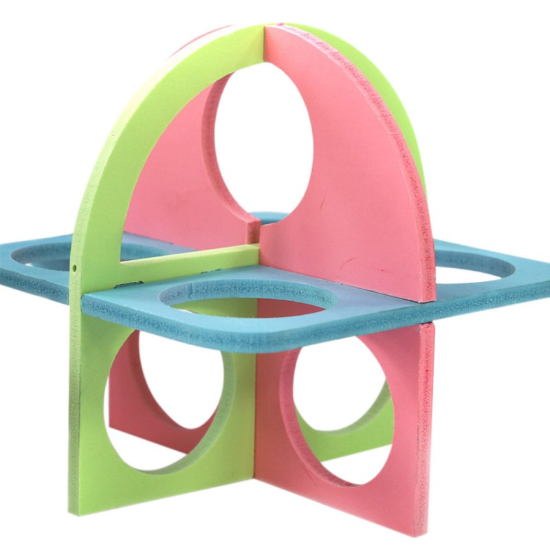 Cute Colorful Hamster Ladder Exercise Toys Decoration Funny Pets Fitness Sport Activity Center Climbing Stairs Toy For Hamster