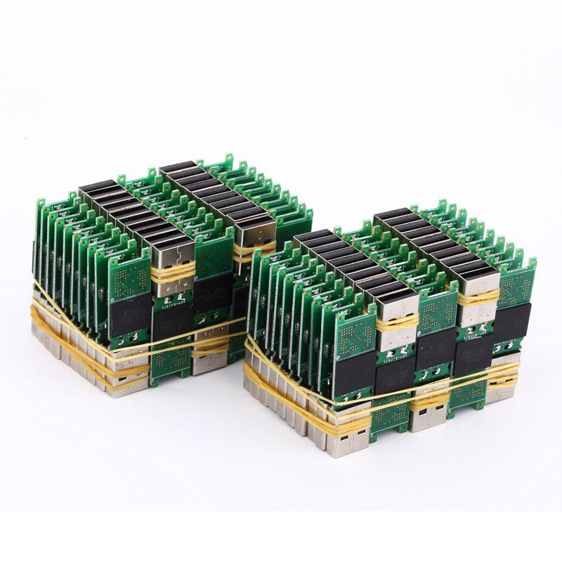 Wholesale USB2.0 Chip 4GB 8GB 16GB 32GB 64GB 128GB Pendrive Memory Disk Flash Short PCB Board Udisk Semi-finished