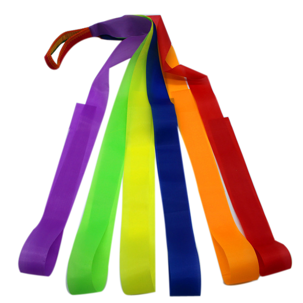 Colorful Ribbon Children Sports Toys Ribbon Gymnastics Dance Dancer Training Ribbon Outdoor Games Playing Toy