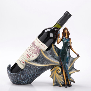 Luxury Girl Wine Rack Resin Crafts Home Decoration Christmas Birthday Gift Bedroom Living Room Office Hotel Ornament Crafts