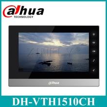 Сетевой видеорегистратор Dahua VTH1510CH IP видео домофон английская версия 7-дюймовый комнатный Сенсорный экран монитор VTH1550CH VTH1660CH с логотип