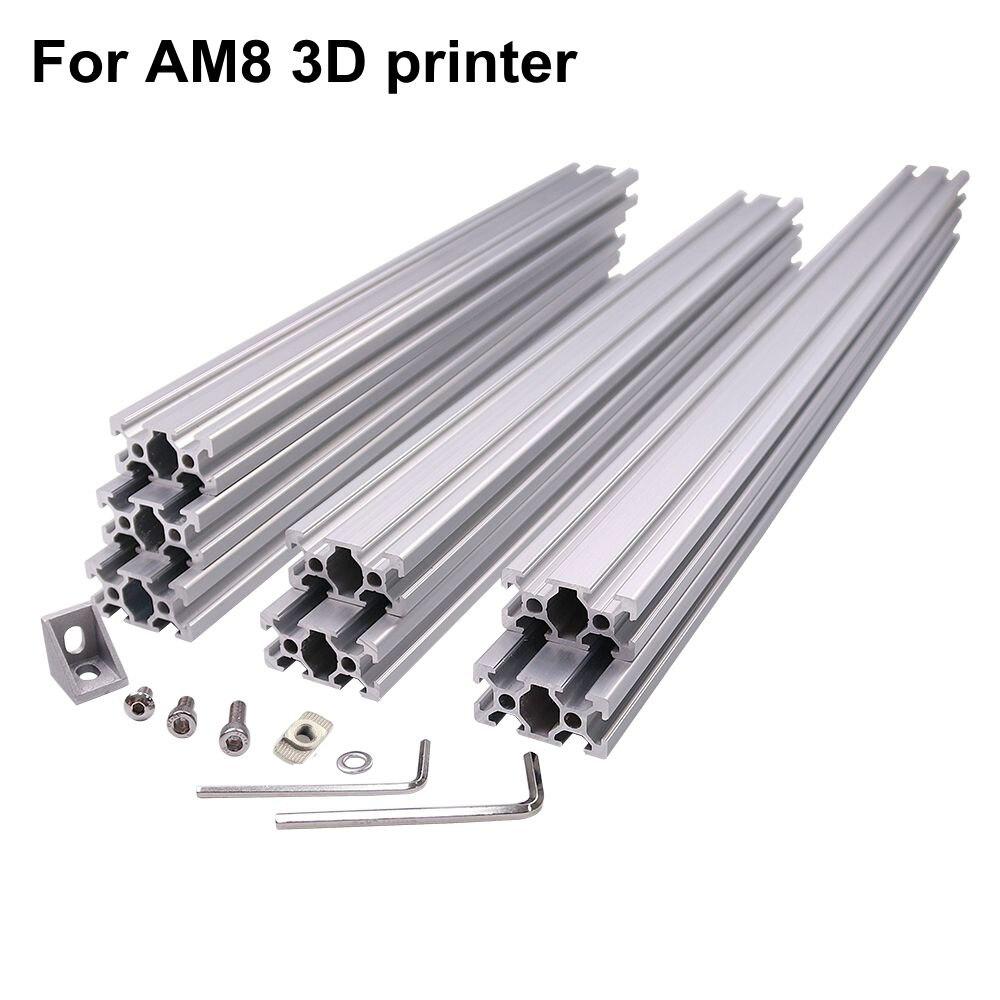 Черный или силивер AM8 3d принтер Алюминиевый металлический экструзионный профиль рамка с гайками винт кронштейн уголок для Anet A8-14
