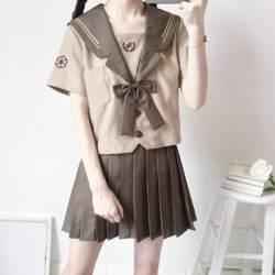 Японская Униформа матрос костюм для женщин Kansai студентов с длинным рукавом костюм Школьная форма для девочек